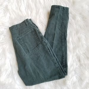 Vintage Green High Waist Tapered Cenza Mom Jeans